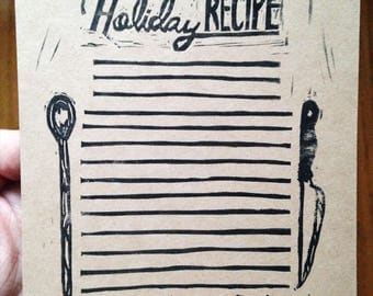 Greeting Card - Holiday Recipe