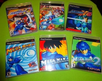 MegaMan Collection X4 X5 X6 Legends 1 2 8 Sony PlayStation 1 PSX PS1 PS2 PS3 - Empty Custom Cases
