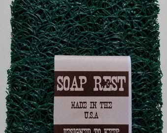 Hunter Green Soap Rest  ..  Soap Saver .. Makes Your Bar Soap Last Longer .. 3 Pack