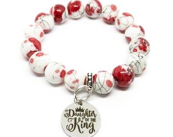 Daughter of the King Christian Charm Bracelet, Faith-based bracelet