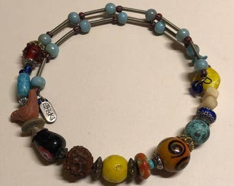 assorted color beaded necklace