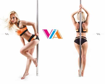 Pole Dance Top & Shorts 2pc VIA POLE for Pole Dance | Gym | Yoga | Fitness | Dance | Booty | Sportswear | Activewear | Outfit | Twerk