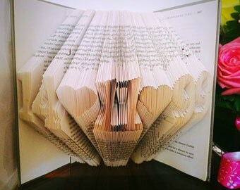 Folded book art etsy negle Gallery