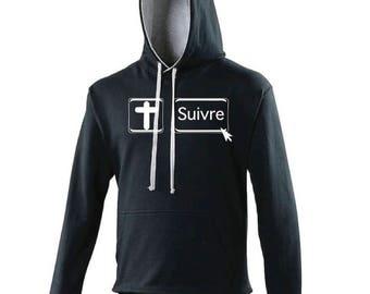 """""""Follow"""" hooded sweatshirt"""
