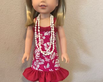 Wellie Wisher Hawaiian Sweetheart Dress - Pink