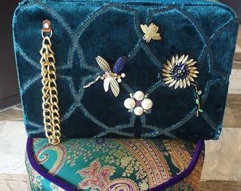 velvet clutch, clutchbag, handbag, daytime,evening, partybags