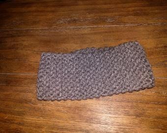 Handmade knit gray headband/earwarmer