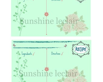 PRINTABLE - Recipe Card