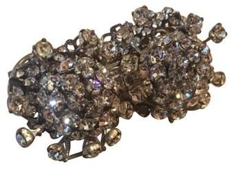 Vintage Stanley Hagler N.Y.C. Crystal Stone Pin Brooch