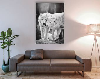 Arctic Wolf (canvas on the frame)