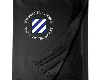 3rd Infantry Division Embroidered Blanket-4025