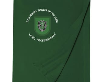 10th Special Forces Group Embroidered Blanket-3727