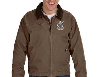 US Army Combat Diver Embroidered DRI-DUCK Outlaw Jacket-7685