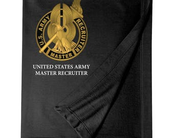 US Army Master Recruiter Embroidered Blanket-7747