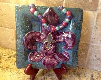 Mardi Gras decorative plate