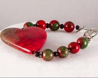 Marble heart bracelet