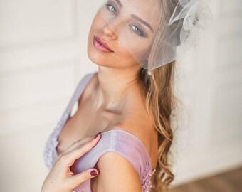 Birdcage veil, Bridal birdcage veil birdcage fascinator, Ivory birdcage veil, Wedding veil, Bridal headpiece, Hair accessories