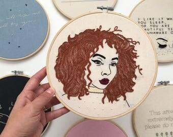 Redhead - handmade embroidery