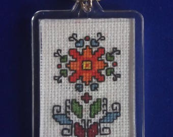 Keychain with Traditional Ethnic Bulgarian Embroidery