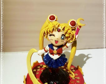 Chibi Sailor Moon Polymer Clay Figurine