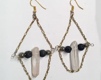 Quartz Archer Earrings