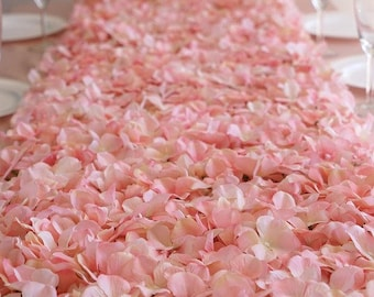 4 Blush Ivory Flower Wall Pink Panels Hydrangeas Artificial Flower Wedding Decorations Fake Flower Table Runner Sale Square Pink Wholesale