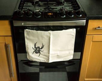 Spider Sketch Tea Towel