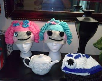 Custom Crochet R2D2 Hat