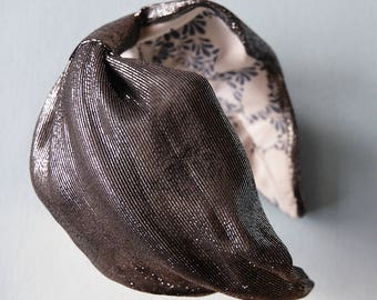 Headband Staple in silver lamé