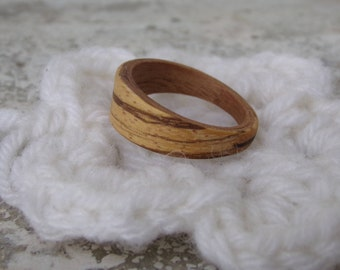Wooden ring precious man, woman, original, handmade jewelry, wood jewelery, handmade, zebrano, rosewood