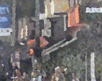 Street Corner - original oil painting