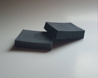 2 piece set activated charcoal soap