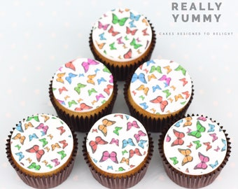 Pretty butterflies cupcake toppers - 6