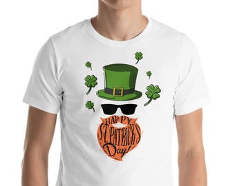Saint Patrick's Day Unisex. Happy st. Patrick's day. Short-Sleeve Unisex T-Shirt