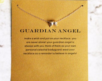 Angel Wings Gift Card Necklace