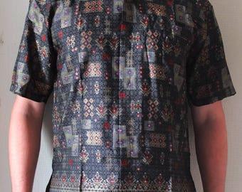 Traditional Indonesian batik shirt