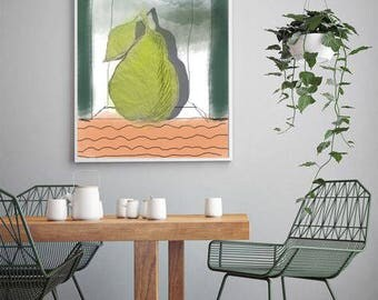 fruit, fresh, modern interior, abstraction, kitchen decor, living room, sunny day,modern fruit print,digital download,modern art print,wall