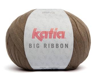 Ribbon Yarn, Bulky Cotton Yarn, Super Chunky Yarn,  Katia Yarn,  Chunky Knit Yarn, Super Bulky Yarn, Bulky Yarn, Rug Yarn, Thick Cotton Yarn