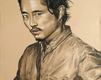 The Walking Dead 1 of 4 Painting Glenn Rhee