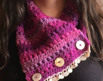Gorgeous purple cowl