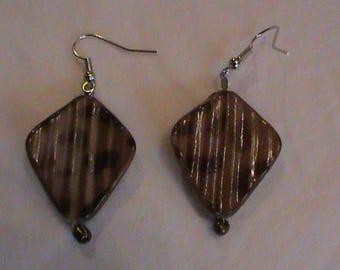 Brown Leopard spotted earrings