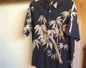 VINTAGE Tori Richard 100% L silk Hawaiian shirt