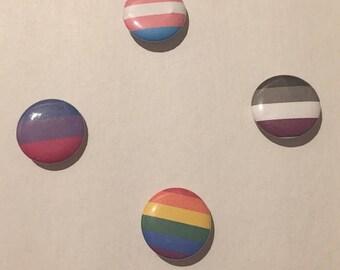 Pride Flag Button Badge