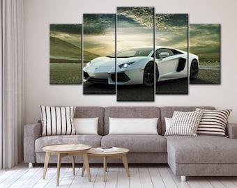 Lamborghini Aventador, Sport car poster, Sport car print, Lamborghini poster, Lamborghini print, Lamborghpini wall art, Supercar print