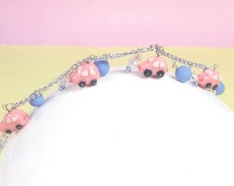 Car bracelet, Volkswagen Kawaii, Volkswagen bracelet, Volkswagen Kawaii, car bracelet, original gift, gift for her, cute