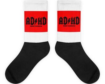 ADHD Socks, Funny Socks, adhd socks, humor socks, Custom Socks, Unique Socks, Vintage Looking Socks,