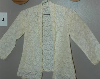 70's Lace Cardigan