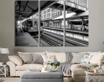 Chicago El Train Wall Art Chicago City Chicago Canvas Chicago Skyline Chicago Print Chicago Photo Chicago Poster Chicago Wall Art