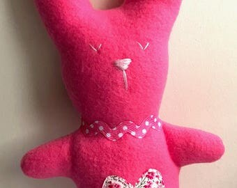 Rosie Rabbit – Handmade Plushie Soft Toy - BABY SAFE and UNIQUE