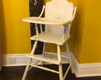 Refinished 1940's High Chair